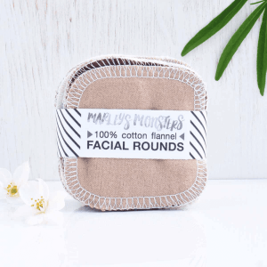 100% Cotton Flannel Facial Rounds – Mixed