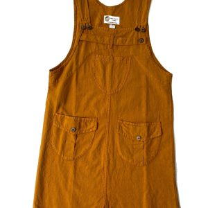 100% Handmade Mustard Corduroy Dress S