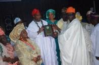 Dr Hassan receiving award from Otunba (Sir) Comrade Ayodele Eleshoo