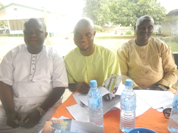 L-R, Opeyemi Bakare, Muri Adefeso and Lateef Adesanya at the event
