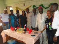 The celebrant with Peer Taiwo Salami (second right) and other staff