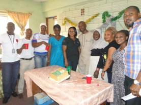 Other members of staff from other departments of the LGEA rejoicing with the celebrant