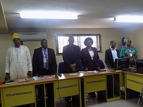 Rector and other senior management team members at the Convocation Press Conference