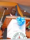 Deputy Registrar (Information)/PRO, LASPOTECH, Mr Lanre Kuye during the Convocation ceremony