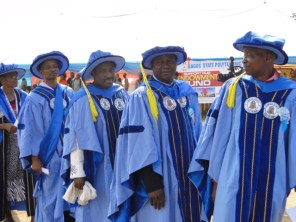 Mr Balogun, HOD Department of Mass Communication with other member of staff