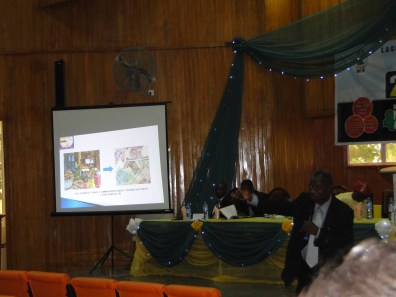 Prof. Dairo expalining a point during his paper presentation
