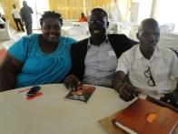 R-L, Kunle Adelabu, Hon. Azeez Olosugbo and Princess Aderoju Ladega at the event
