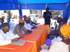 Hon. Olosugbo addressing the gathering