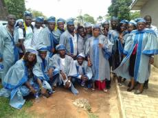 Students of the department of Mass Communication in group Convocation photograph