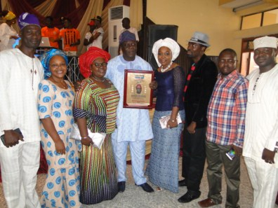 Mr Erogbogbo with family and friends