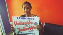 Aisha doing her own endorsement
