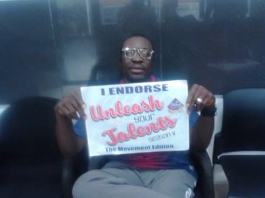 Africa king of comedy, Ali Baba endorsing Unleash Your Talent Season V