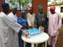 Celebrant with the chieftains of the IKODASS