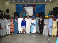 The Deputy Speaker, Lagos State House of Assembly Hon. Wasiu Sanni-Eshinlokun, Hon Agunbiade, Hon. Nurudeeb Solaja and other guests with teachers and students from various schools across Ikorodu Division that made Ikorodu proud during the last Education District II Awards