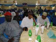L-R, The Clerk/Permanent Secretary, Lagos State House of assembly, Mr Abiru Ganiu, Hon. Eshinlokun and Hon. Solaja at the event