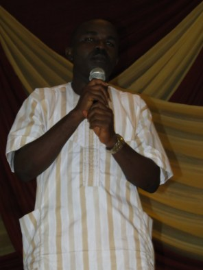 Publisher, Starlight LCM, Mr Damola Aderibigbe delivering his speech