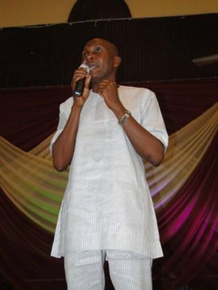 The keynote speaker, Deen Sanwoola at the awards