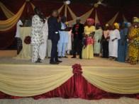 President, League of Jouranlists, Ikorodu, Otunba Dare Odufowokan receiving Special Recognition award from Mr Rotimi Erogbogbo