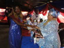 Princess Adenrele Ogunsanya the award as the most outstanding graduating student to the Valedictorian