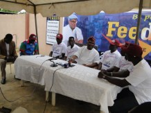 Hon. Agunbiade, Chiarman, Planning Committee and other members of the committee during the briefing