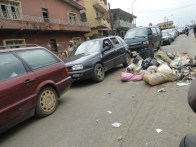 Traffic situation caused by the protest this morning in Ikorodu
