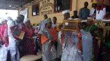 Hon. Agunbiade displaying his award of recognition after being installed as Opomulero of Ikorodu