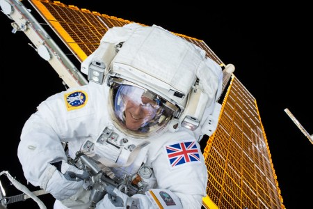 Tim Peake on a space walk outside the ISS