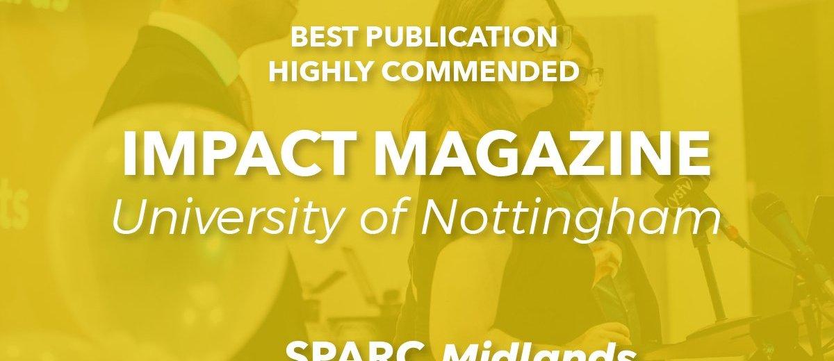 Highly Commended in SPARC Midlands for Best Publication