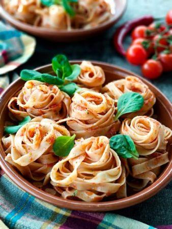 Tomato Pasta with Basil on