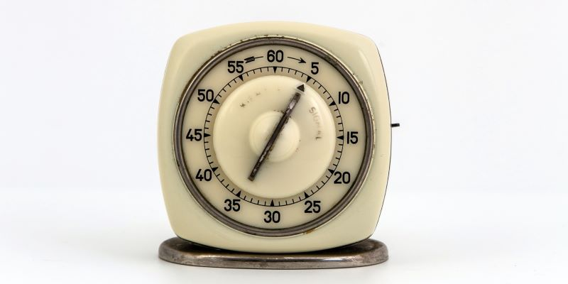 An old timer pointed to five minutes