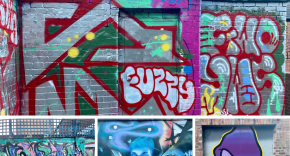Lace market graffiti collage