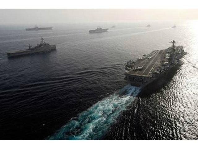Fuerte despliegue militar en las costas de Irán