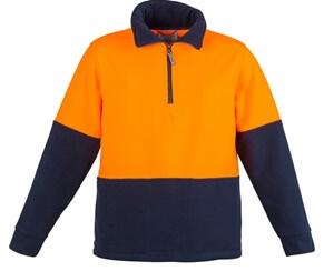 Impact Teamwear - High Vis Half Zip Fleece Jumper