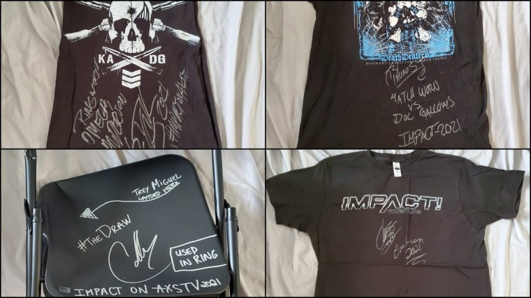 Match-Worn, Autographed T-Shirts & Steel Chair Now Available on eBay – IMPACT Wrestling