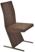 Fémvázas kárpitozott szék, antik barna