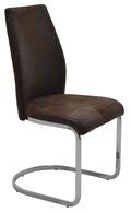Fémvázas, kárpitozott szék, barna
