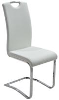 Szánkótalpas szék, fehér