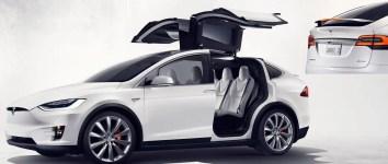 Tesla Model X All-Electric SUV.