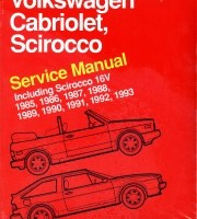 BENTLEY REPAIR MANUAL VOLKSWAGEN CABRIOLET, SCIROCCO, including
