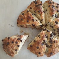 Chocolate Chip Greek Yogurt Scones