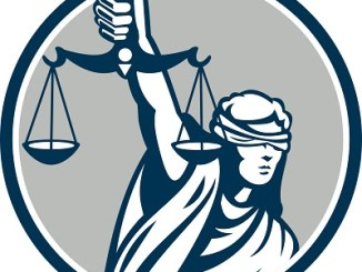 Lady Blindfolded Holding Scales Justice Impeach Trump