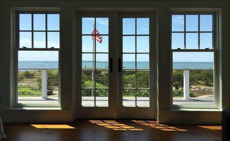 Beautiful view of the bay through clean windows