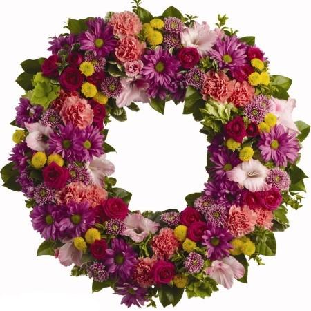 corona funebre fiori misti