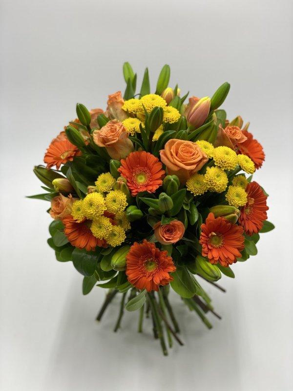 bouquet fiori misti giallo e arancio