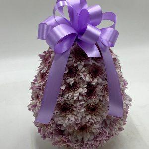 splendido uovo di fiori rosa cm30