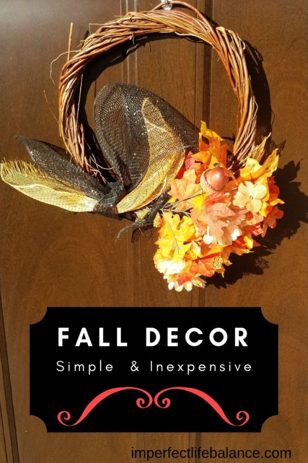 Simple and inexpensive fall decor