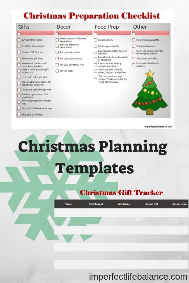 Christmas Planning Templates
