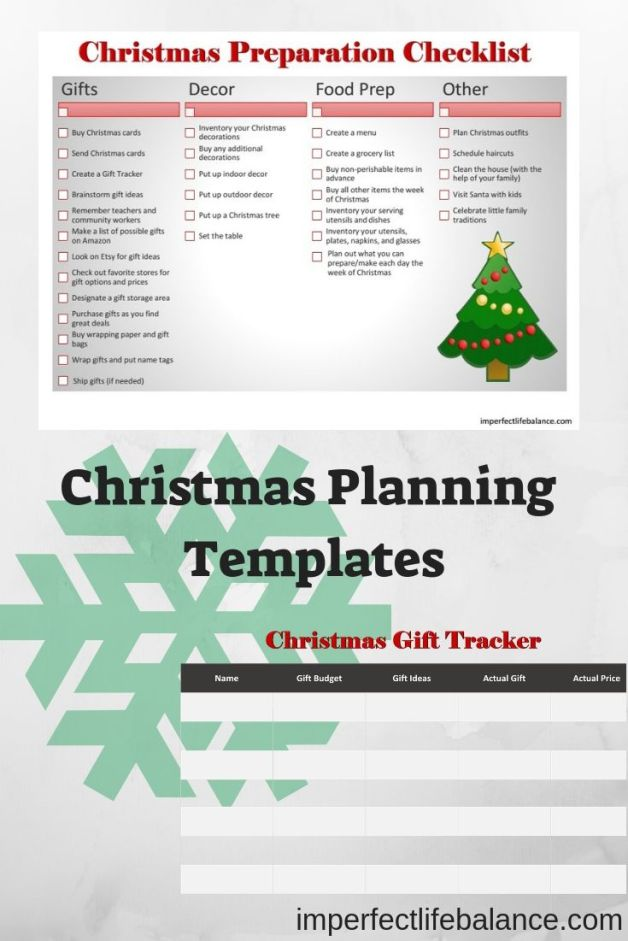 Christmas Planning Templates