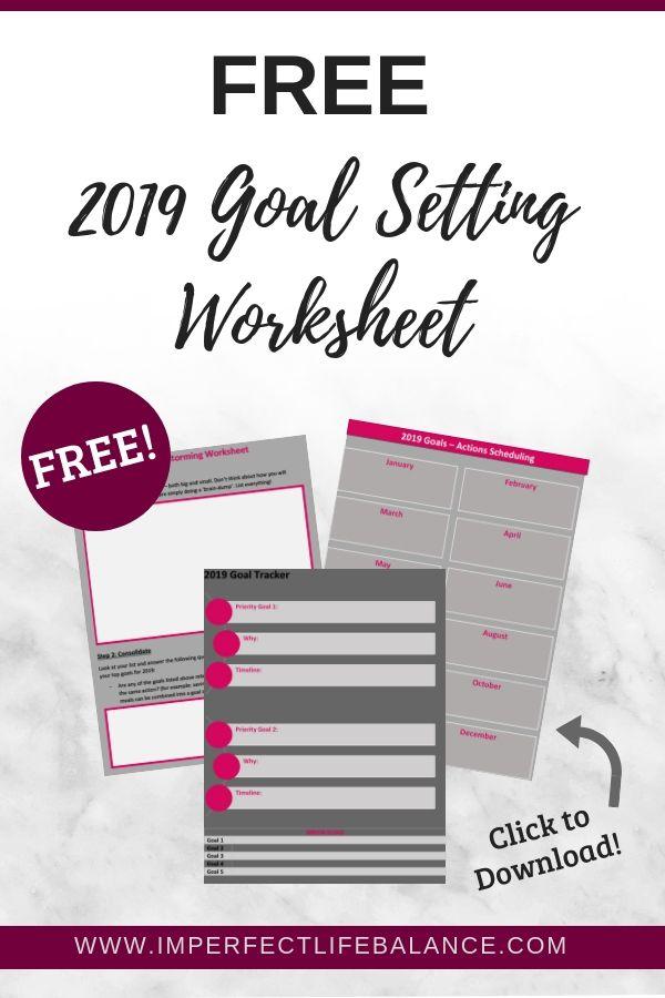 2019 Goal Setting Worksheet