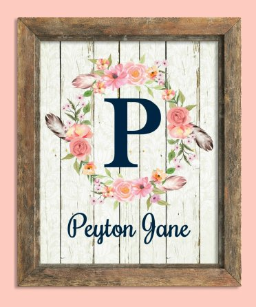 Personalized Baby Name in a Frame Gift